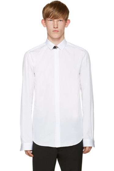 Valentino - White Leather Strap Shirt