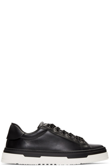 Valentino - Black Leather Hiking Sneakers