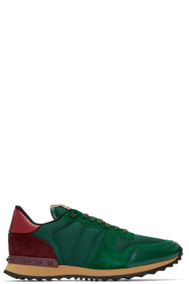 Valentino - Green Mesh Rockrunner Sneakers