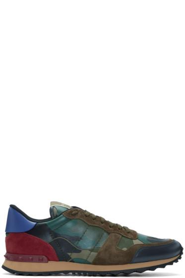 Valentino - Multicolour Rockstud Camouflage Sneakers
