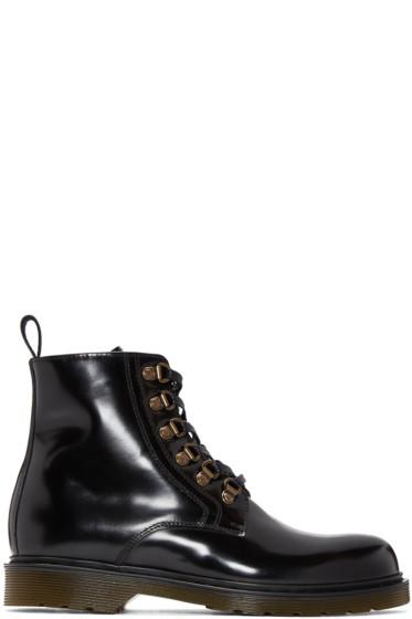 AMI Alexandre Mattiussi - Black Lace-Up Boots