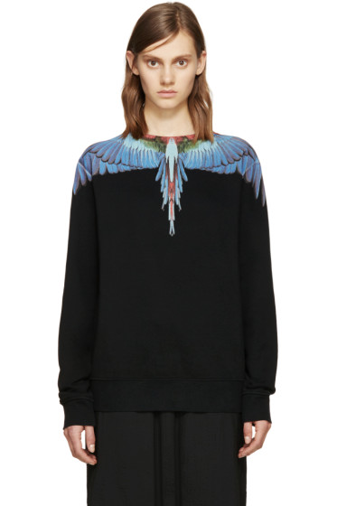 Marcelo Burlon County of Milan - Black Tecka Crew Sweatshirt