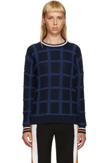 Mother of Pearl - Navy Noah Square Pullover