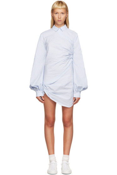 Jacquemus - Blue & White Striped Shirt Dress
