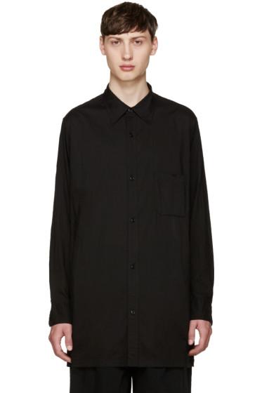 Yohji Yamamoto - Black Buttoned Back Shirt