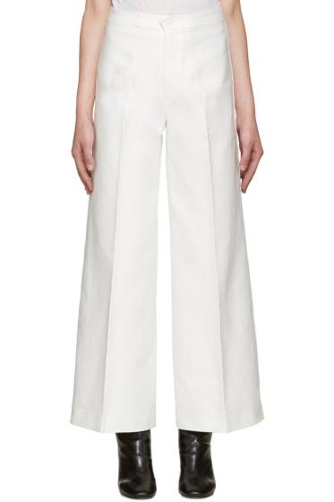 Isabel Marant - White Wide-Leg Steve Trousers