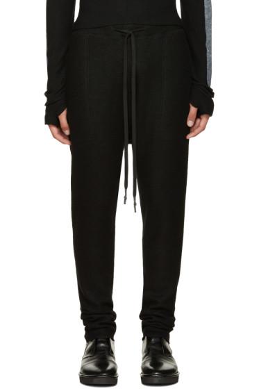 Nude:mm - Black Wool Lounge Pants