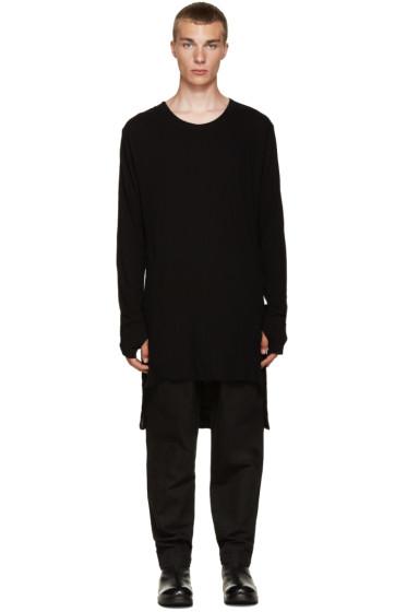 Nude:mm - Black Overlong T-Shirt