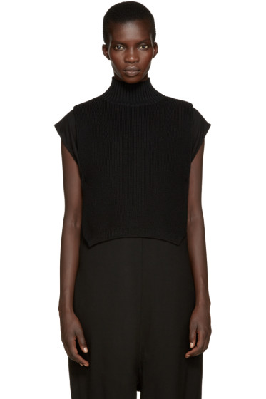 Y's - Black Mock Neck Collar