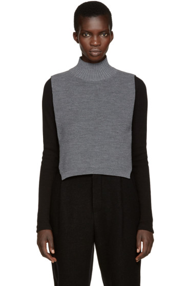 Y's - Grey Mock Neck Collar