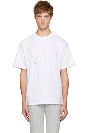 Satisfy - White Moth Eaten T-Shirt