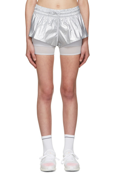 adidas by Stella McCartney - Silver 2 In 1 Running Shorts