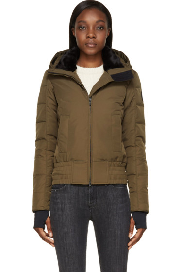 Canada Goose - Military Green Branta Collection Aberdeen Bomber Jacket