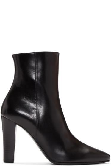 Monogram Saint Laurent Blogger Bag In Black Leather