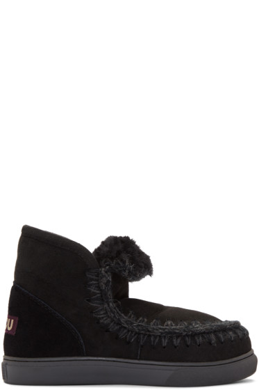 Mou - Black Mini Eskimo Boots