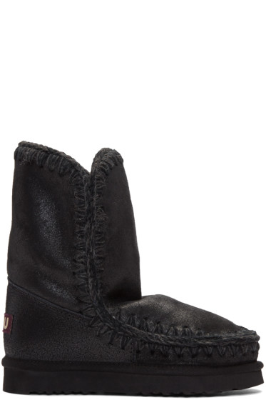 Mou - Black Cracked Eskimo 24 Boots