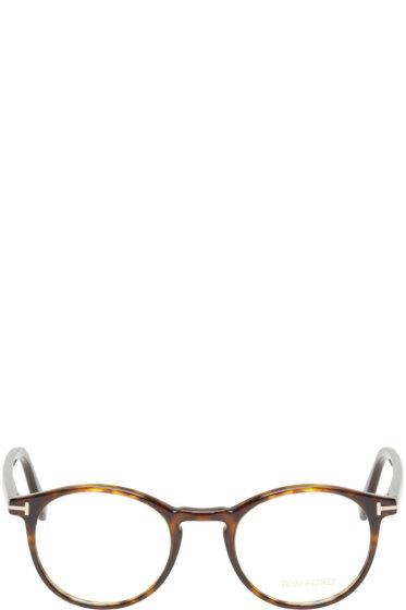 Tom Ford - Brown Tortoiseshell TF5294 Optical Glasses