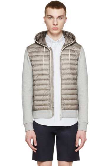 Moncler - Grey Quilted Panel Hoodie