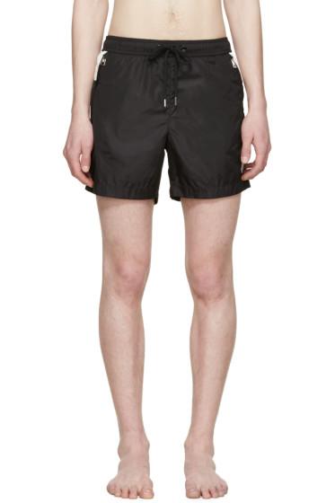 Moncler - Black & White Swim Shorts