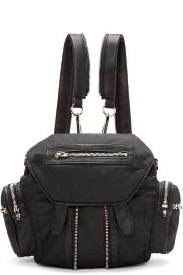 Alexander Wang - Black Nylon & Leather Mini Marti Backpack