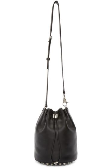 Alexander Wang - Black Leather Alpha Bucket Bag