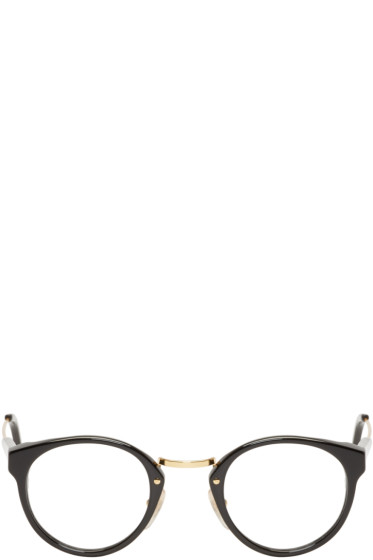 Super - Black & Gold Round Panamá Glasses