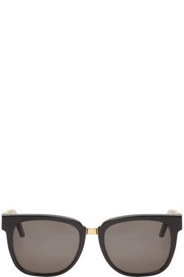 Super - Black & Gold People Francis Sunglasses