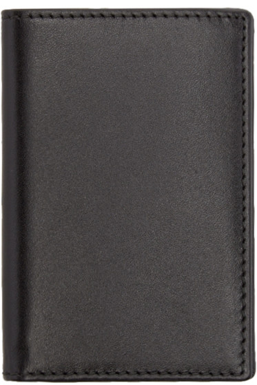 Comme des Garçons Wallets - Black Leather Bifold Card Holder