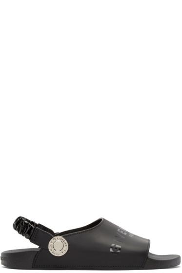 Givenchy - Black Leather Logo Sandals