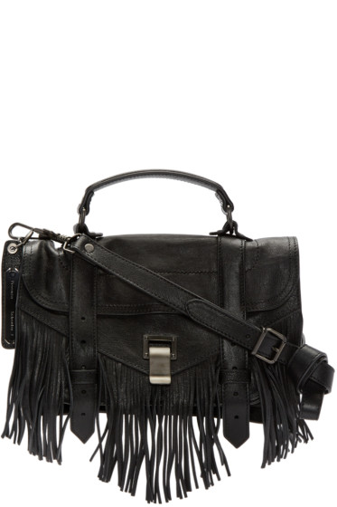 Proenza Schouler - Black PS1 Fringe Tiny Satchel