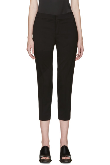 Chloé - Black Wool Cropped Trousers