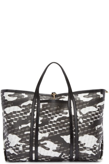 Pierre Hardy - Black & White Canvas Polycube Tote