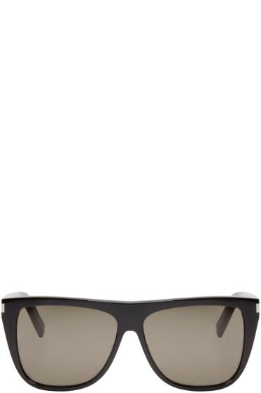 Saint Laurent - Black SL 1 Flat Top Sunglasses
