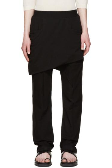 Thamanyah - Black Asymmetric Razor Trousers