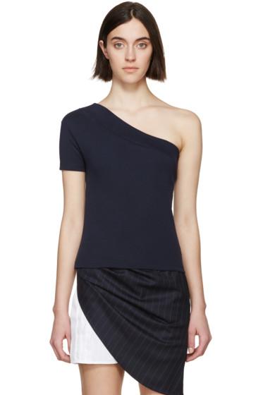 Jacquemus - Navy Single Sleeve T-Shirt