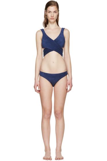 Lisa Marie Fernandez - Navy Marie-Louise Terry Bikini
