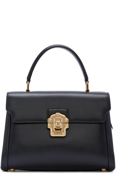 Dolce & Gabbana - Black Iguana-Embossed Lucia Bag