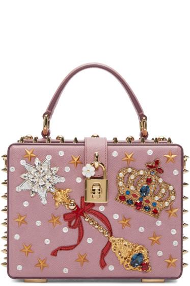 Dolce & Gabbana - Pink Embellished Box Bag