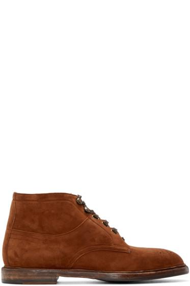 Dolce & Gabbana - Brown Marsala Boots