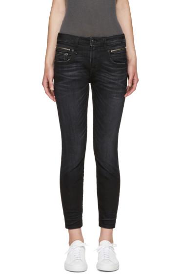 R13 - Black Biker Boy Jeans