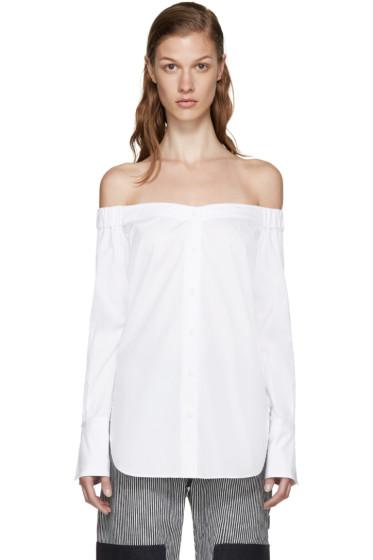 Rag & Bone - White Off-the-Shoulder Kacy Blouse