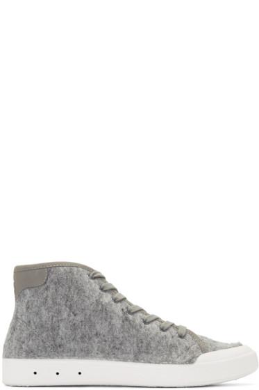 Rag & Bone - Grey Wool New Standard High-Top Sneakers