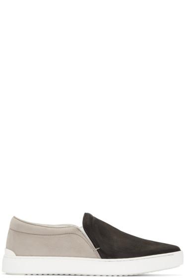 Rag & Bone - Black & Grey Kent Slip-On Sneakers