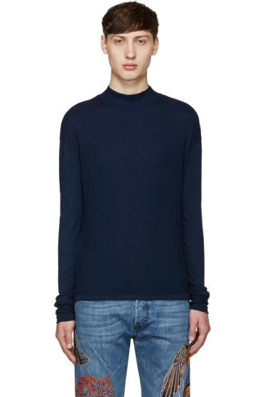 Diesel Black Gold - Navy Mock Neck T-Shirt