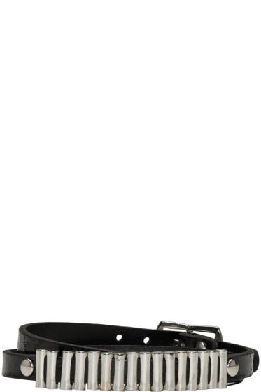 McQ Alexander Mcqueen - Black Mini Wrap Bullets Bracelet