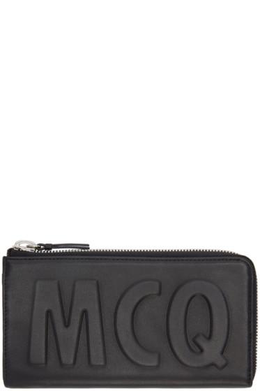 McQ Alexander Mcqueen - Black Leather Logo Wallet