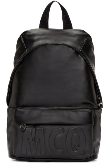 McQ Alexander Mcqueen - Black Leather Classic Backpack