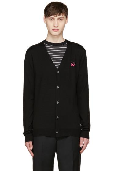 McQ Alexander Mcqueen - Black Wool Embroidered Cardigan