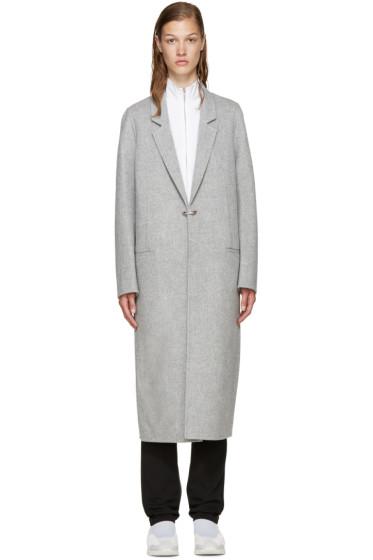 Acne Studios - Grey Wool Foin Coat