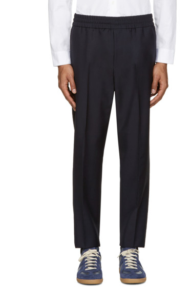 Acne Studios - Navy Wool Ryder Trousers